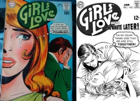Girls' Love #140 - Leonard Starr and Joe Rubinstein - One Minute Later Comic Art